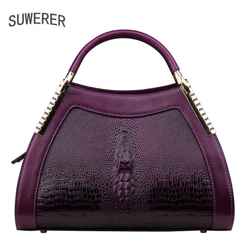 SUWERER 2019 новая женская сумка из воловьей кожи, женские сумки из натуральной кожи, роскошная дизайнерская Высококачественная кожаная арт сумк