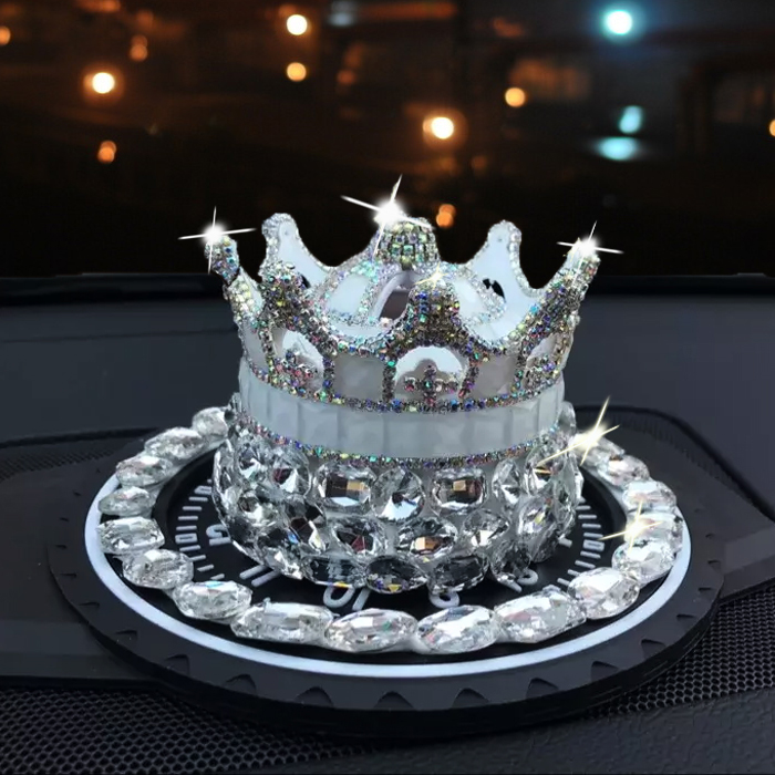 Crystal Crown modeling Perfume seat Car Luxurious Deodorizing Scent Air Freshener Fragrance For Homes Auto Liquid