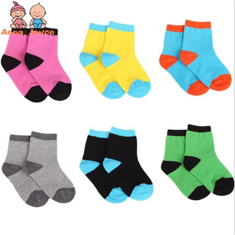 20 pieces=10 pairs 1-9 year children socks spring&autumn cotton girls socks boys socks Colorful kids Sport Socks цена