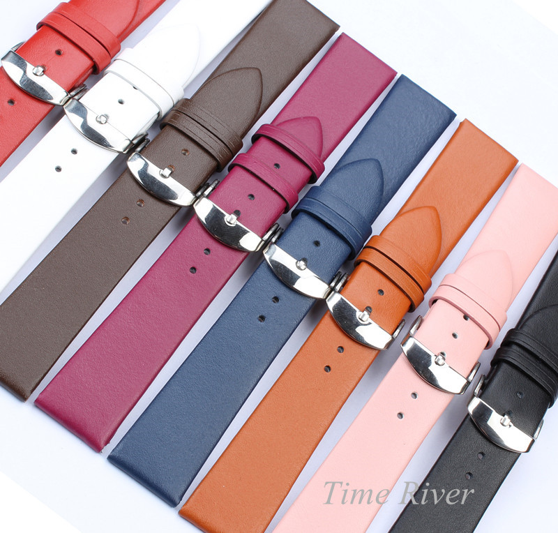 1PCS Genuine Leather Watch Band Strap 12mm 14mm 16mm 18mm 20mmm 22mm Watch Strap Watch Belts Wristwatch Band