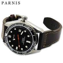 45mm Parnis Mecánica Relojes De Cerámica Rotatig Bisel de Zafiro Resistente Al Agua 5ATM Reloj Automático de Los Hombres Reloj de Pulsera relogio masculino