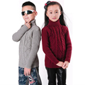 Children Warm Sweater During The Autumn And Winter Solid Color Girls Pullover  Korean Long Sleeve Knitted  For boys