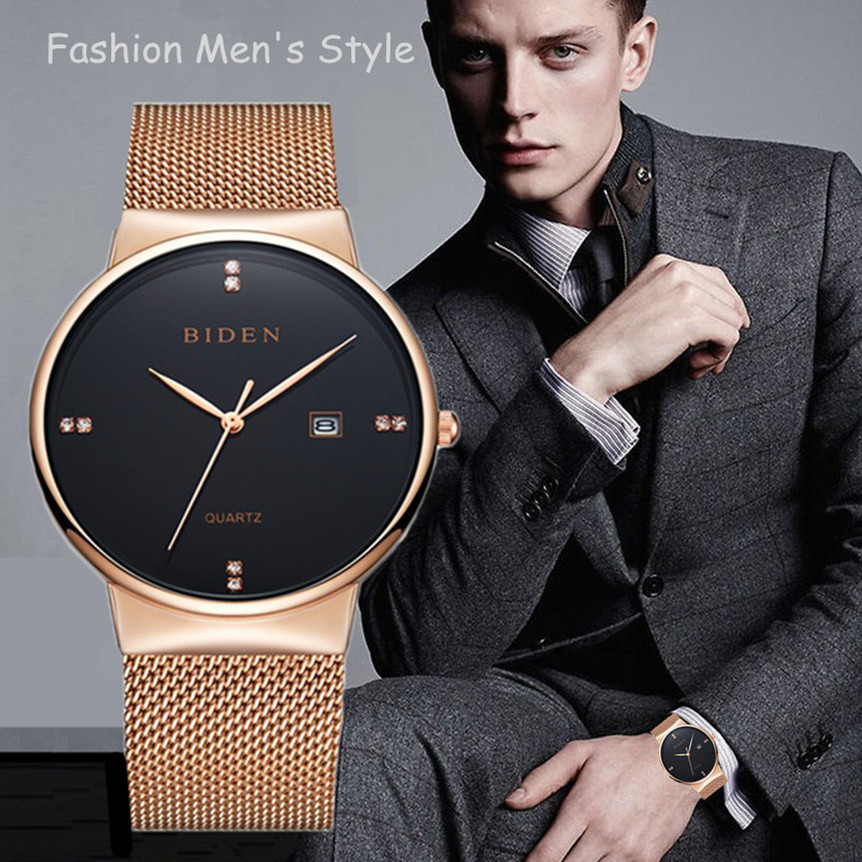2017 New Famous Brand Gold Casual Geneva Quartz Watch Women Mesh Stainless Steel Dress Men Watches Relogio Feminino Clock