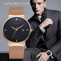 2016 New Famous Brand Gold Casual Geneva Quartz Watch Women Mesh Stainless Steel Dress Women Watches