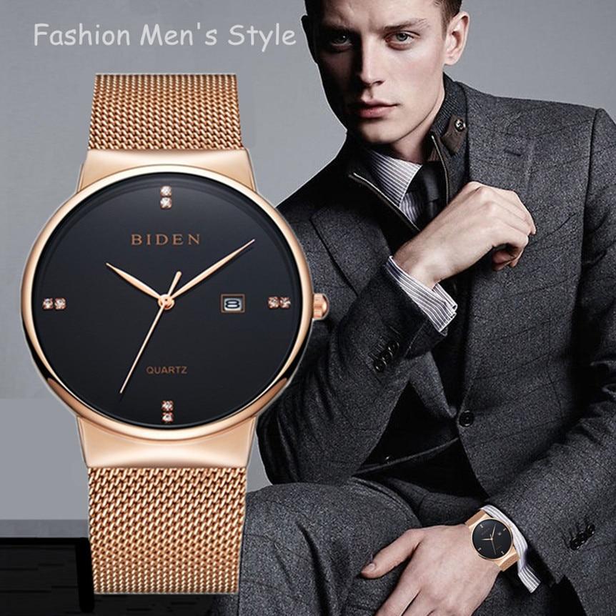 ביידן זהב שעונים גברים מקרית ג'נבה - שעונים גברים