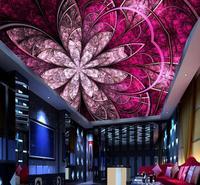 European Ceiling 3d Custom Wallpaper Luxurious Art flower Ceiling Murals Wallpaper Home Decoration