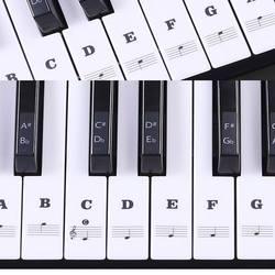 Фортепианная наклейка прозрачная пианино клавиатура наклейка 37/49/54 ключ электронная клавиатура 88 ключ пианино Stave Note наклейка для белых