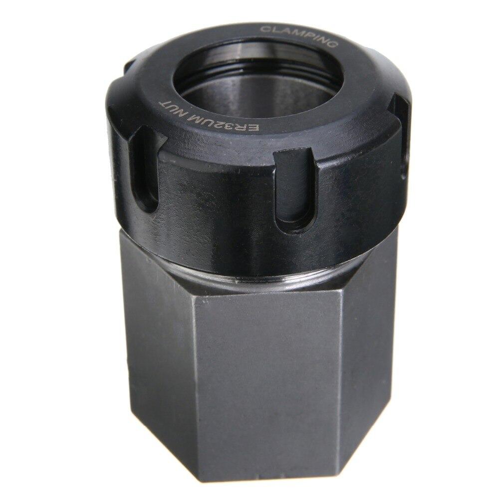 1pc hex er32 collet bloco de mola de aço duro chuck collet titular para torno cnc máquina de corte gravura 45*65mm