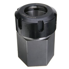1pc Hex ER32 Collet Block Hard Steel Spring Chuck Collet Holder for CNC Lathe Engraving Cutting Machine 45*65mm
