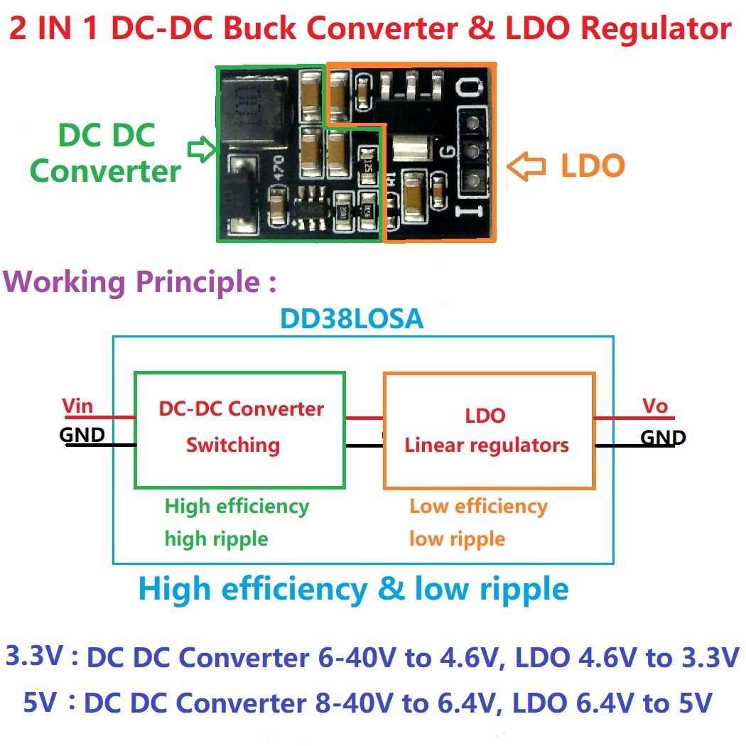 DC-DC Boost Step UP Converter 1.5V 1.8V 2.5V 3V 3.7V 4.2V 5V a 3.3V Casa inteligente