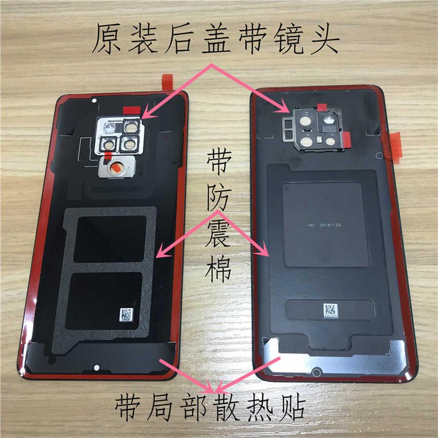 Оригинальный материал стекло Задняя Дверь корпуса для huawei mate 20 Pro задняя крышка батарейного отсека чехол с объективом камеры + клей для mate 20