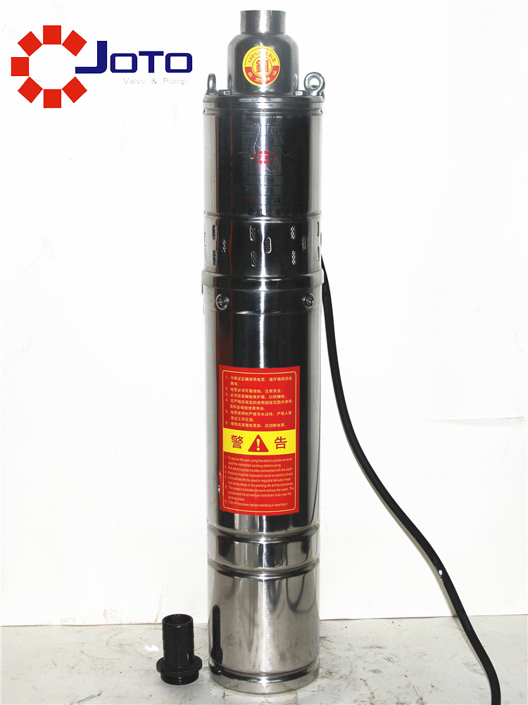 1 1kw Electrical Deep Well Pump For Water Suction 220V Stainless Steel Submersible Water Pump 70m