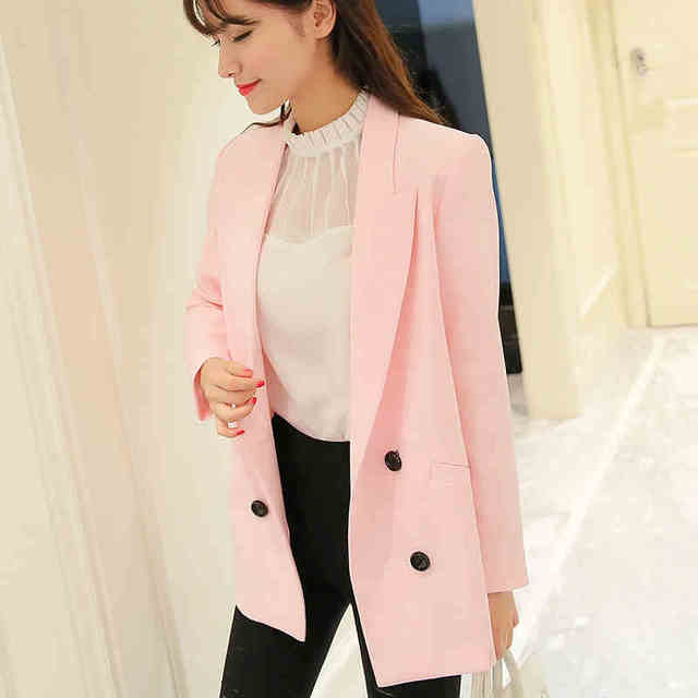 aa1370a2f09 new Fashion Elegant Business Formal Office Solid Suits Wear Women Long  Sleeve summer Blazer Suit Jacket