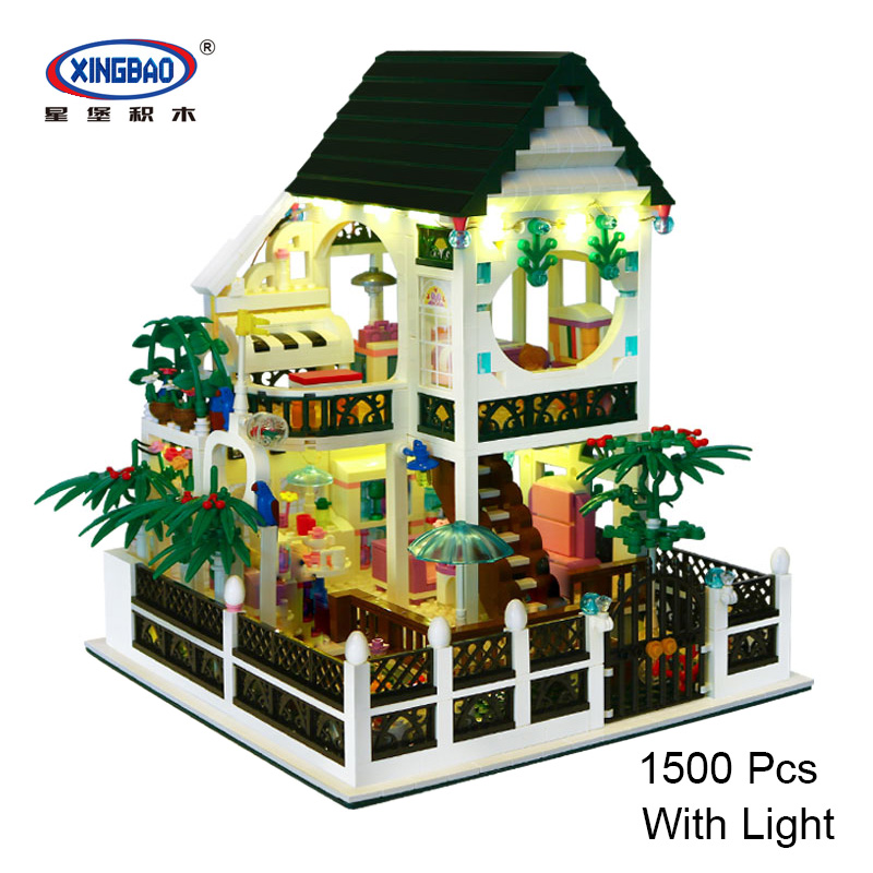 XingBao 01202 Comfort Villa Romantic Heart with Light USB Country House Building Block Bricks Legoing Educational Toy 1500 Pcs holidays cookbook country comfort