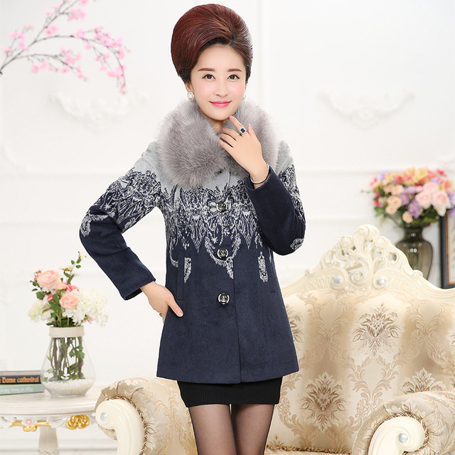3c6db973dee15 Women Coats And Jackets 2017 Middle-aged Woman Winter Coat Women Elegant  Plus Size Women s