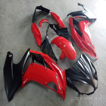 Screws+Custom red ABS motorcycle cowl for 650R ER6f 2009 2010 2011 ER6F Fairing