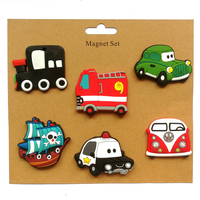 6PCS LOT Cartoon Transport Tool Fridge Magnets Promotion Gifts Home Decorations PVC Soft Rubber Crafts Customized