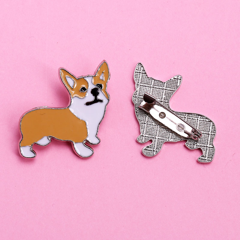 Jewelry Pug welsh Corgi schnauzer dogs brooches pins handbags pendant badge decorated cartoon brooches for women Fashion gifts ...