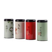 Xin Jia Yi упаковка Металлическая краска жестяная коробка переработанная круглая Роза чай контейнер для хранения конфеты для рождественской вечеринки посылка коробки