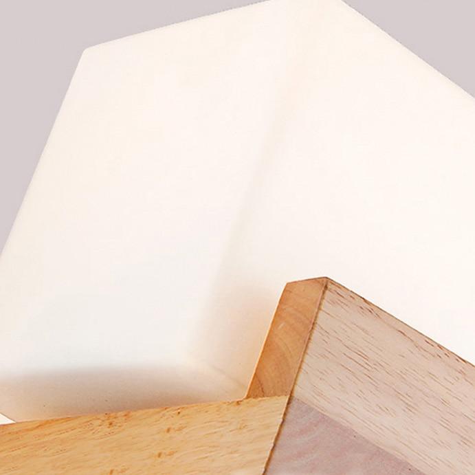 Απλή Ιαπωνία στυλ ξύλινο φωτιστικό - Εσωτερικός φωτισμός - Φωτογραφία 3