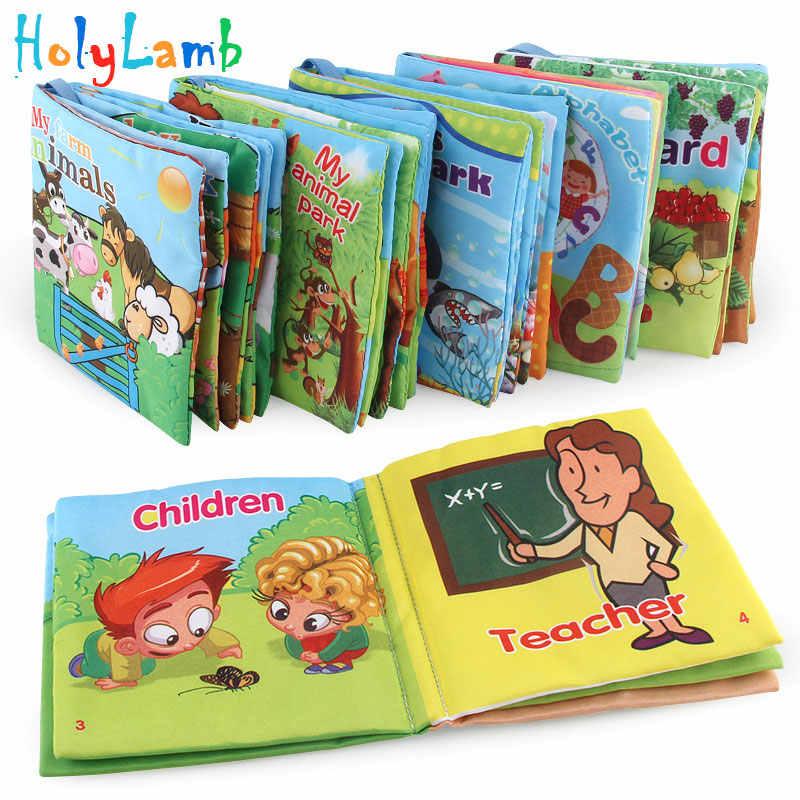 Đồ Chơi Cho Bé Sơ Sinh Sách Vải Trẻ Sơ Sinh Giáo Dục Nhận Thức Học Tập Bé Trai Bé Gái Sơ Sinh Động Vật Trẻ Em Sách Lục Lạc Đầu Học Tập
