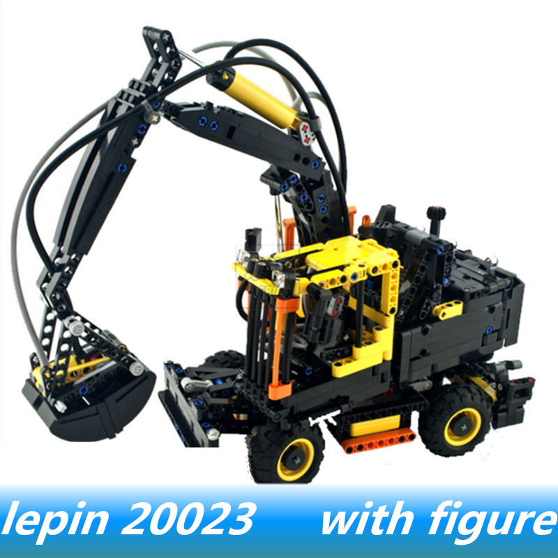 Lepin 20023 lepin Technical rc Ew160e volvo excavator set Compatible legoing technic volvo excavat Legoing 42053 Building Blocks 1 14 volvo excavator light module jd 106a