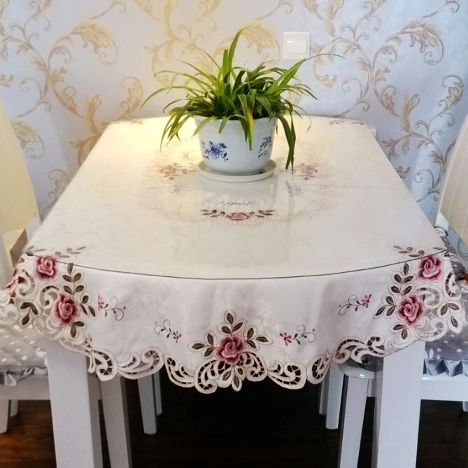Embroidered High End Round Table Cloth Large Round Tablecloth Small Round  Tea Table Cover Mat In Tablecloths From Home U0026 Garden On Aliexpress.com |  Alibaba ...