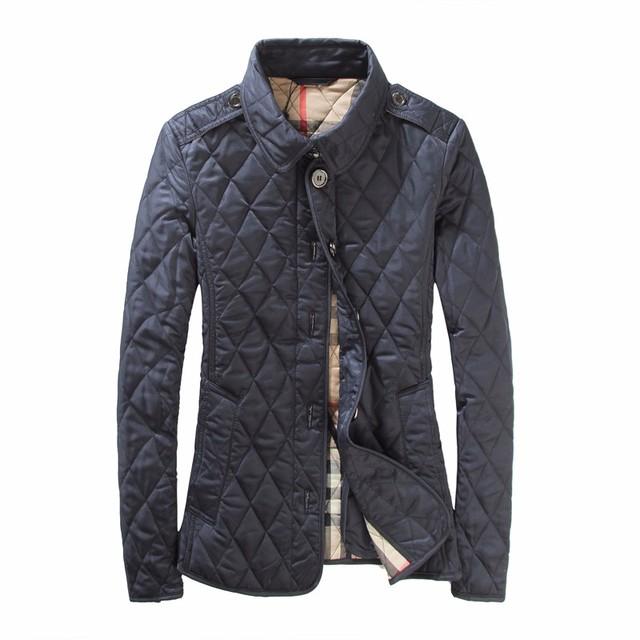 Estilo británico Nuevo Acolchado Chaquetas de Marca 2017 Mujeres del Invierno Chaqueta Delgada Fiting Down Jacket Outwear Plus Tamaño XXXL