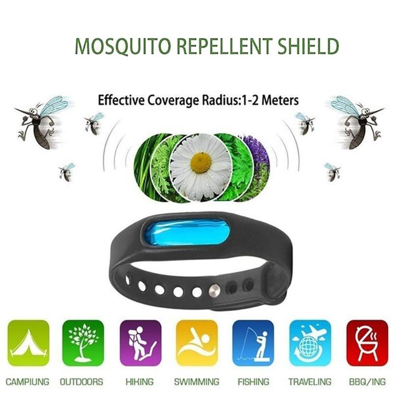 Image 5 - Mosquito Killer Anti Mosquito Bracelet Button Insect Repellent Wristband Summer Outdoor Indoor Mosquito Repellent Insect Killer-in Smart Accessories from Consumer Electronics
