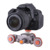 Flexível 3-Wheel Mini Carro Ferroviário Rolamento Da Polia Motorizada Deslizante DSLR Dolly Trilha Slider para DSLR Camera Slider Celular