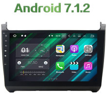 Quad Core 2GB RAM 16GB ROM Android 7.1.2 Bluetooth Stereo MP3 MP4 Touch Screen Bluetooth car radio for Volkswagen Polo 2015