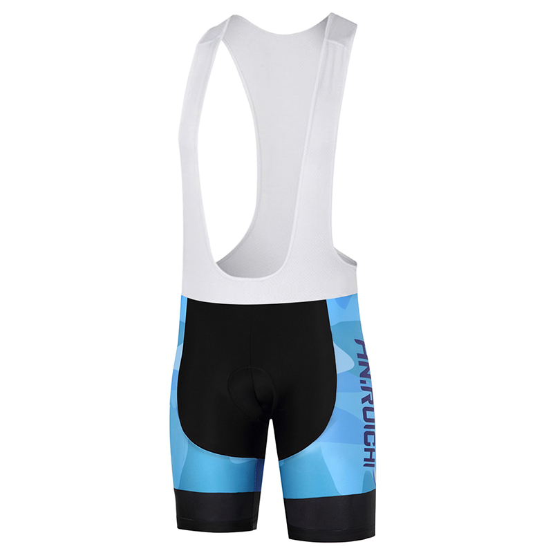 Unisex Spring Summer Cycling Bib Shorts Breathable Camouflage Blue Color 3D Protection Cushion Customized/Wholesale Service