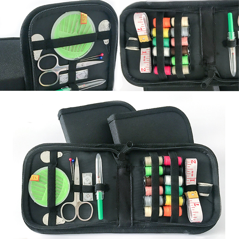 Thread Needle Sewing Bag Tool Kit Thread Stitches Multifunction Sewing Box Travel Case