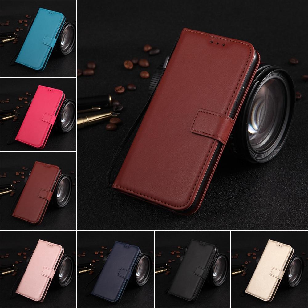 En cuir Téléphone étui pour samsung Galaxy S9 S8 Plus S6 S7 Bord S5 S4 S3 Mini Grand Prime Note 9 8 5 Flip Portefeuille porte-carte Couverture