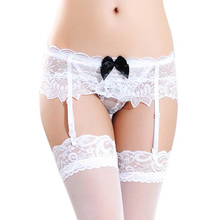 Sexy High Thigh Stockings and Garter Belt Suspender