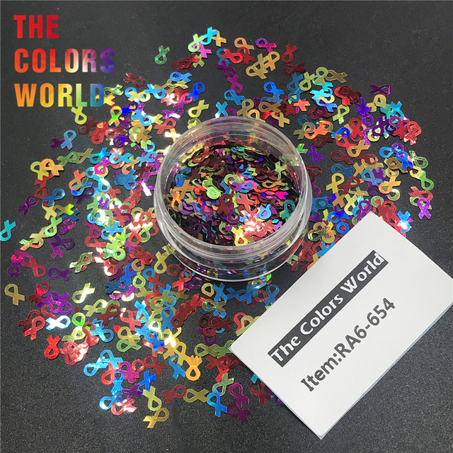 TCT-310 ruban de sensibilisation ongles paillettes ongles Art décoration à faire soi-même Gel corps Art décorations maquillage artisanat gobelets fournitures de fête