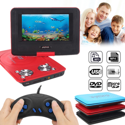 2018DVD Player Game Player Blu-Ray Player Portable Rotatable 270 Degree LCD Gamepad 12V Audio