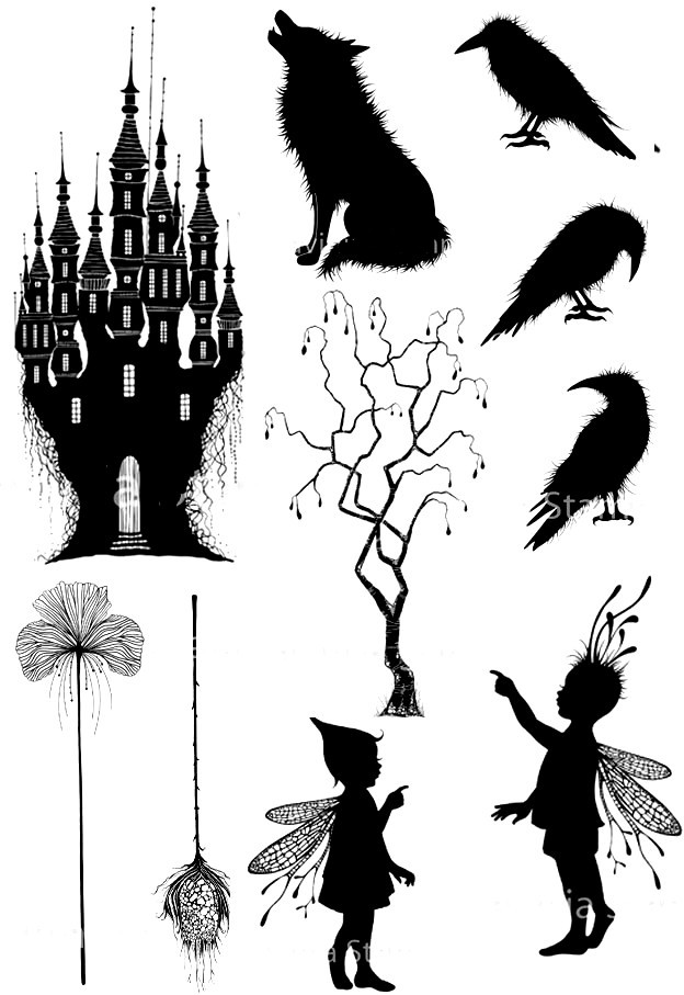 Castle And Wolf Transparent Clear Stamps /Seal For DIY Scrapbooking/photo Album Decorative Sheets