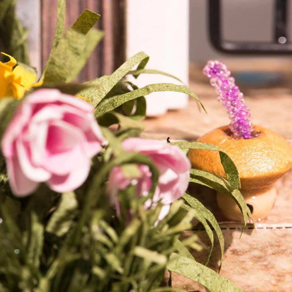 Робутон Новогодний подарок DIY Миниатюрные ворота страны чудес 3D Деревянный Кукольный дом Детская игрушка кукольный домик с мебели для рождества DGM02