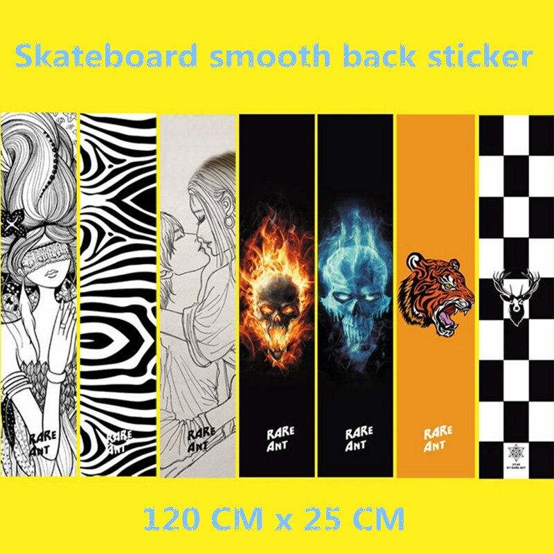Free Shipping Skate Board Smooth Back Sticker Long Board Back Sticker 120 X 25 Cm Not Griptape