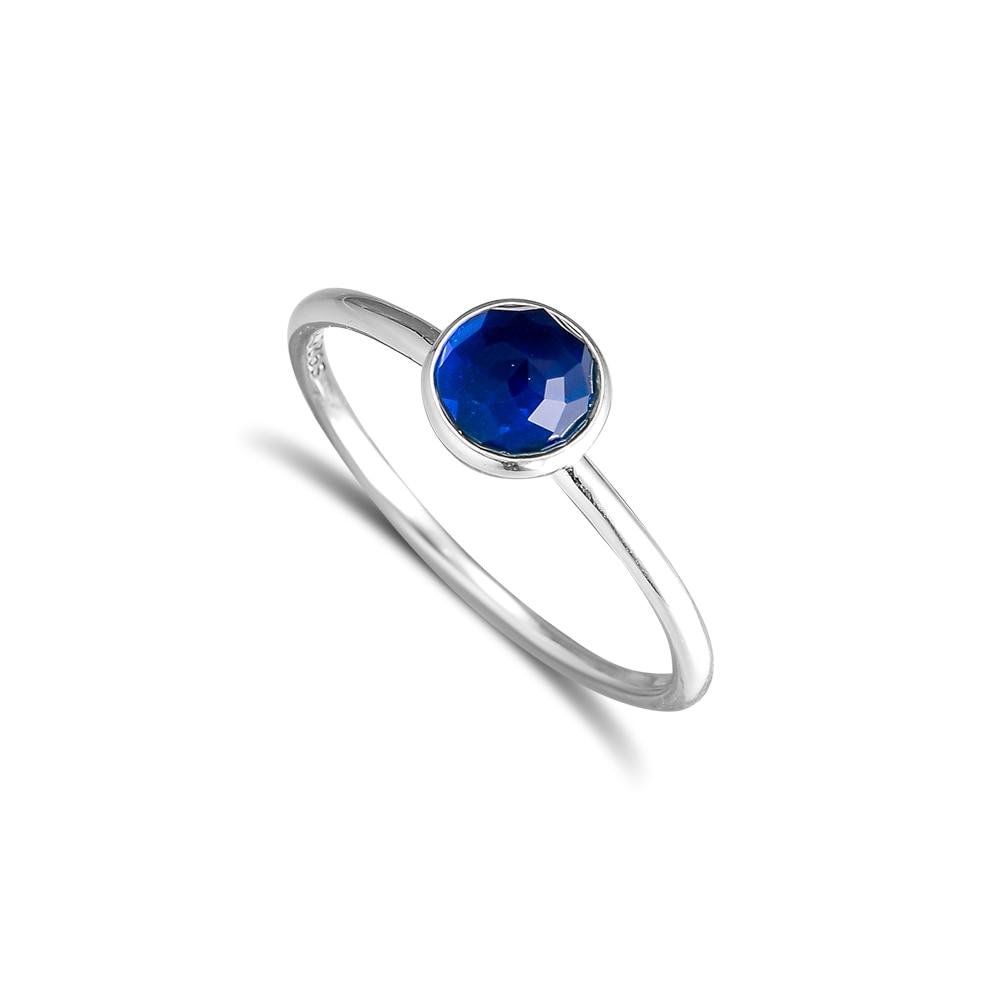 CKK 925 Sterling Silver December Droplet, London Blue Crystal Rings Originální evropský styl DIY šperky