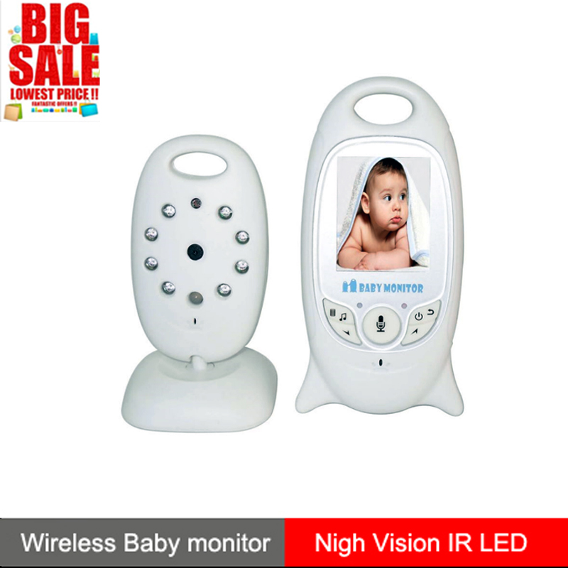 free shipping 2 0 inch color video wireless baby monitor security camera 2 wa. Black Bedroom Furniture Sets. Home Design Ideas