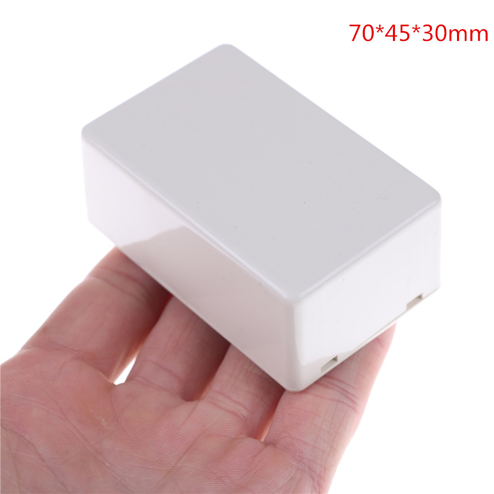1/2Pcs White 70*45* 30mm Junction Box Plastic Waterproof Cover Project Electronic Instrument Case Enclosure Box Hot Sale
