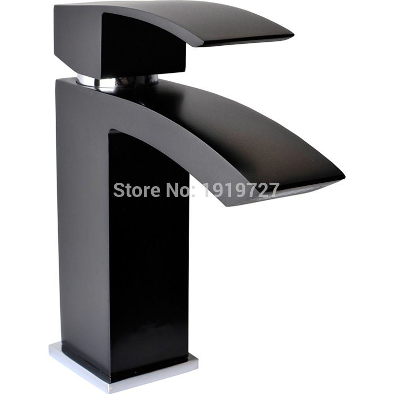 Wholesale Promotions European 100% Solid Copper Hot Cold Mixer Tap Matte Black Waterfall Bathroom Vessel Wash Basin FaucetWholesale Promotions European 100% Solid Copper Hot Cold Mixer Tap Matte Black Waterfall Bathroom Vessel Wash Basin Faucet