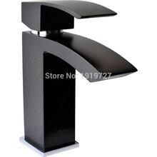 2015 Wholesale European 100% Copper Hot/Cold Mixer Tap Matte Black Bathroom Wash Basin Faucet