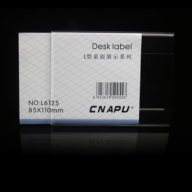 85 110mm customized office plastic desktop name tags stand