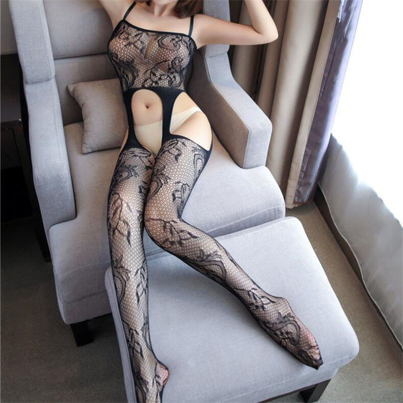 <font><b>Sexy</b></font> Open Crotch <font><b>Tights</b></font> Fishnet <font><b>Bodystockings</b></font> Mesh Transparent Lenceria Sexi Para Mujer Women <font><b>Sexy</b></font> <font><b>Lingerie</b></font> Erotic Underwear image
