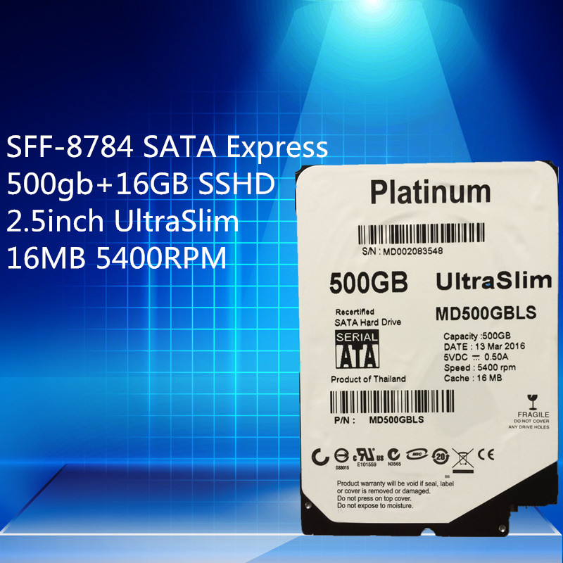 Platinum 500gb+16GB SSHD 2.5inch UltraSlim 5MM  16MB 5400RPM SFF-8784 SATA Express  Warranty 1-year