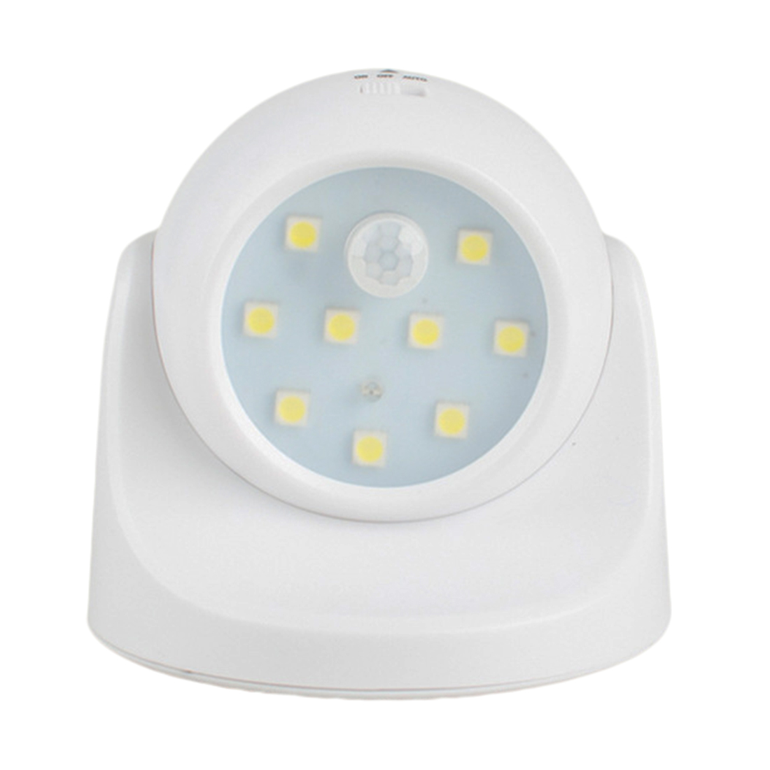 Portable 9 LED Motion Sensor Night Light 360 Degree Rotation Night Light Auto IR Infrared Luminary Lamp Children Lamp LED sn101 mini 360 degree rotation 0 1w yellow light auto sensor night lamp white 2 round pin plug