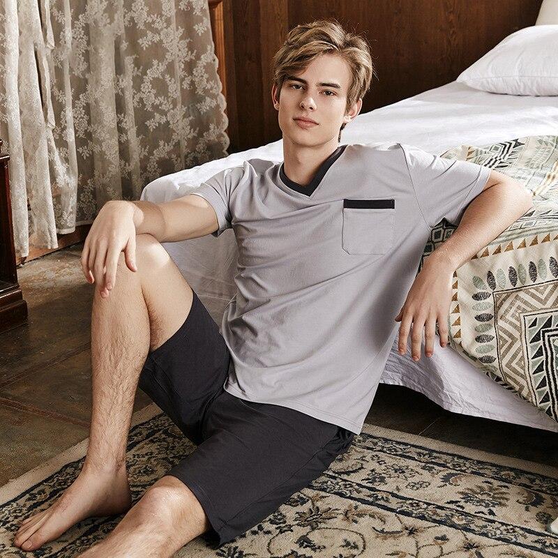 Pijama-Set Short-Sleeve Oversize Nightwear Sleepwear Home-Clothes Summer XXXL Soft Modal